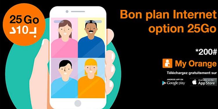 Promo : Orange Tunisie lance le forfait Bon Plan 25 Go à 10 dinars