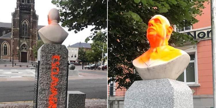 Un buste du général De Gaulle vandalisé dans le Nord de la France